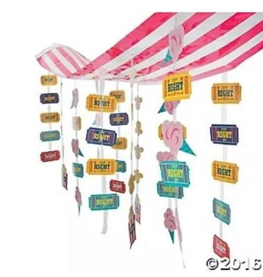 2 CARNIVAL Circus Big Top Tent Party Decoration Dangling Kids Birthday Party