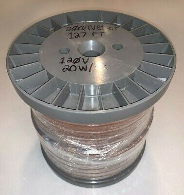 127 Ft 38.7m Raychem 20qtvr1-ct Self-regulating Heating Cable 120v Free Ship