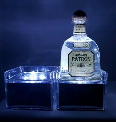 Patron Tequila Lighted Bottle Display Risers Bar Party Advertisement Alcohol
