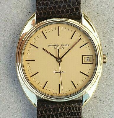 montre vintage FAVRE LEUBA + bracelet original quartz