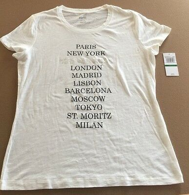 Michael Kors Cities White T-Shirt Large