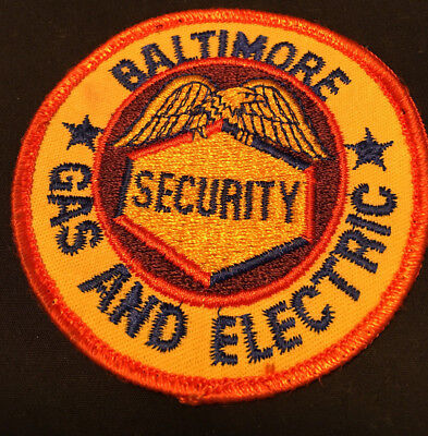 Vtg Collectible BGE Baltimore Gas and Electric Security Patch Sew on
