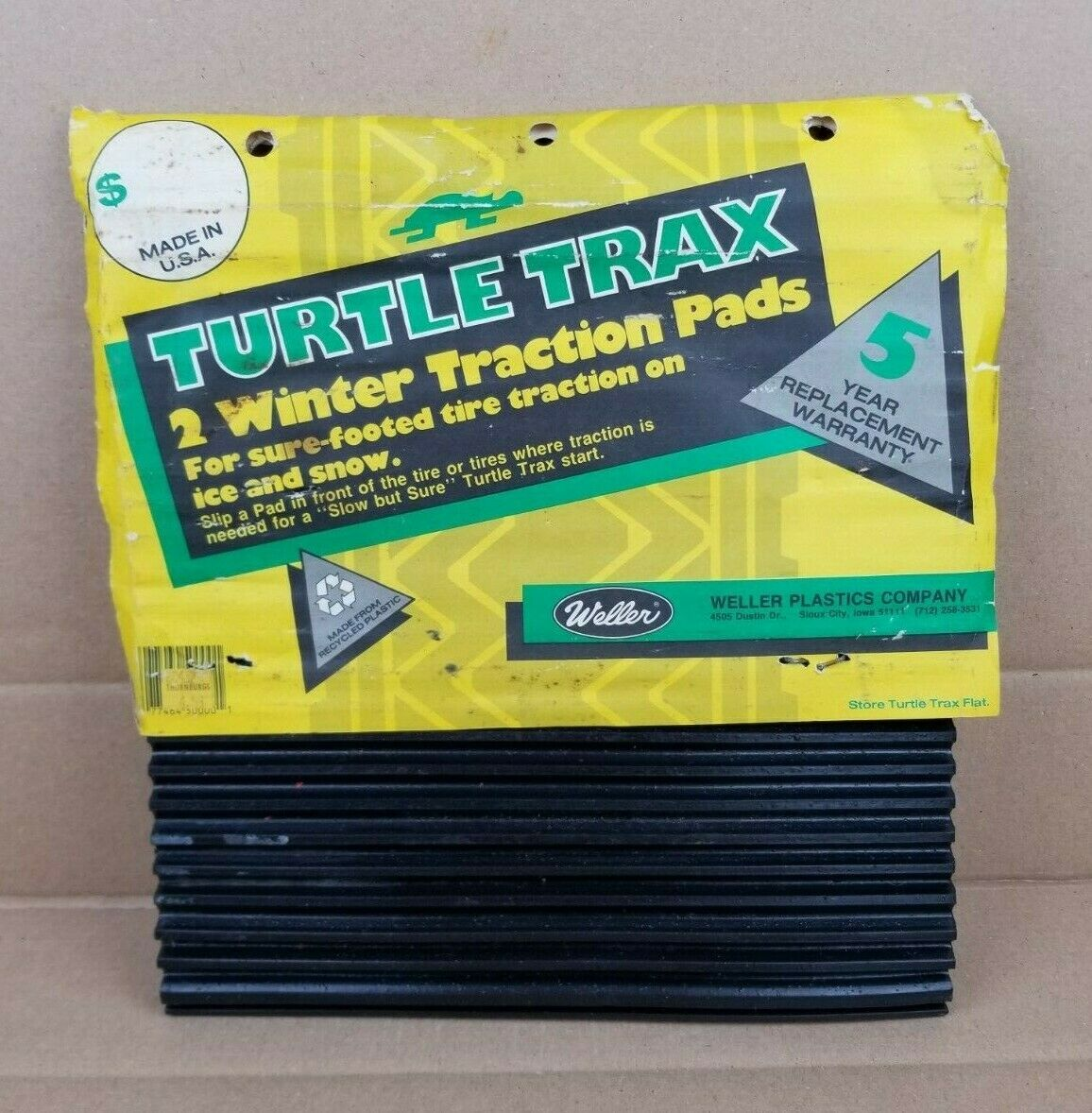 Vintage Weller Turtle Trax Set Of 2 Winter Tire Traction Pads Snow Ice NEW