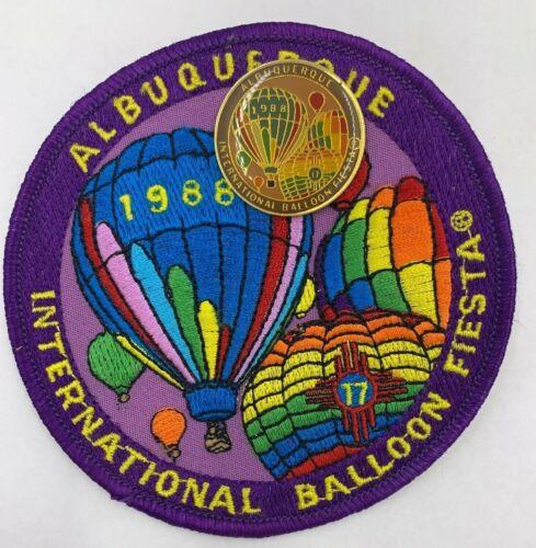 1988 Albuquerque Balloon Fiesta OFFICIAL Patch and Pin