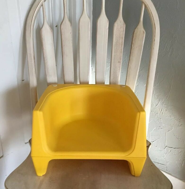 Vintage Yellow COSCO Child Booster Seat Restaurant Style 2 Heights