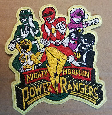 Power Rangers Logo Patch Brodé 11.4cm Haut