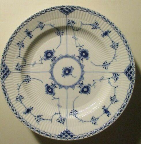 "ROYAL COPENHAGEN BLUE FLUTED HALF LACE-Dinner Plates-Denmark-#571-9 7/8"""