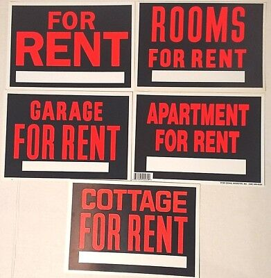 Vintage Plastic For Rent Signs Hardware Store Business Sign 7x10 New Old Stock
