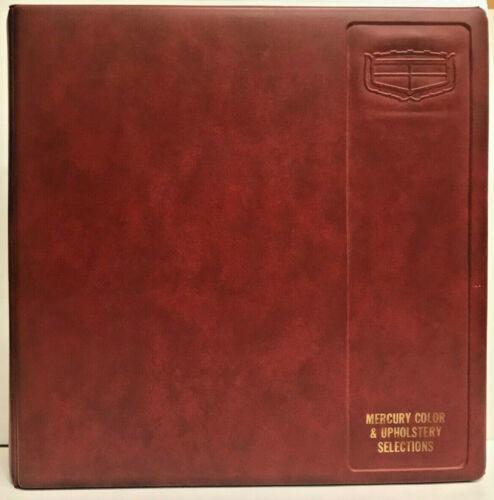 1971 Mercury Color & Upholstery Dealer Album