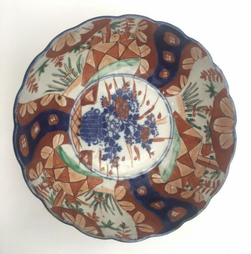 Large Chinese multi-color hand-painted bowl, unknown age SHIPS FREE