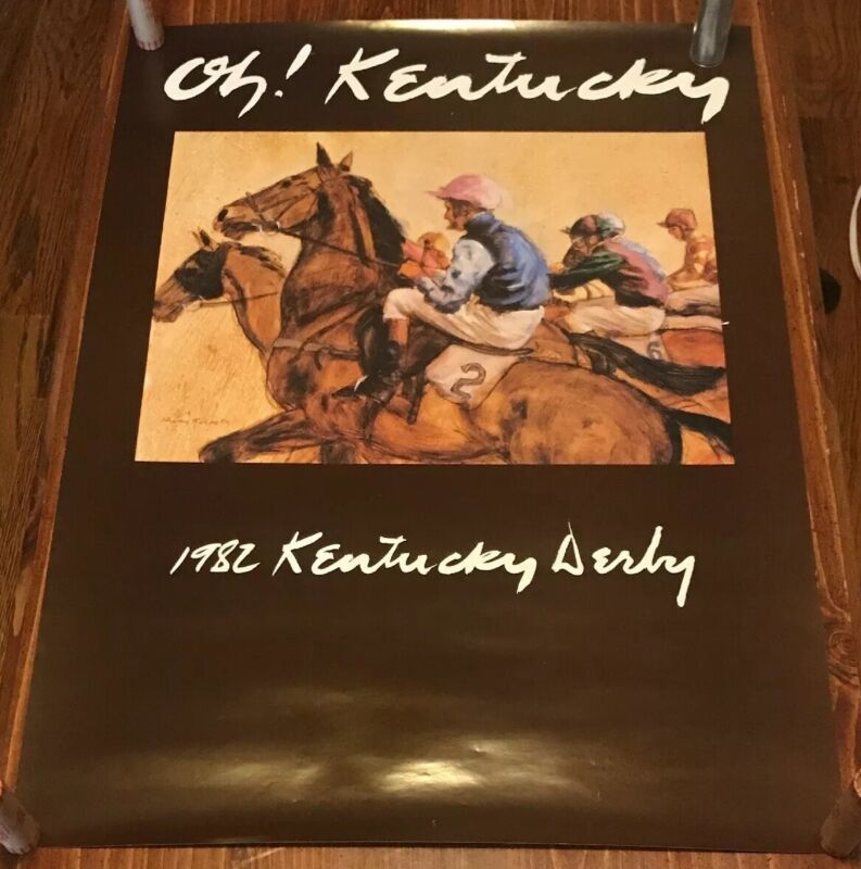 "Henry Koehler Oh! Kentucky 1982 Kentucky Derby Poster Extremely Rare 24""x17.75"""