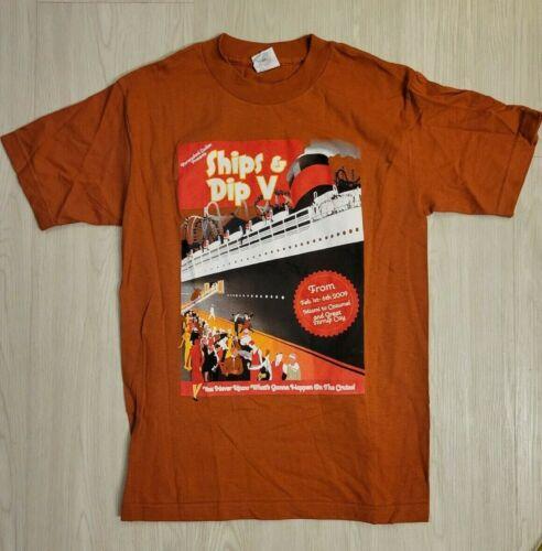 Barenaked Ladies Ships & Dips Cruise V 2009 T-Shirt Size Small Burnt Orange