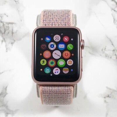 Apple Watch Gen 1 42mm Rose Gold Case Series 7000 Pink Sand Loop