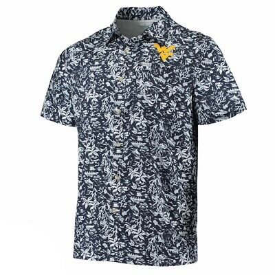 West Virginia Mountaineers Columbia PFG Super Slack Tide XL Hawaiian Shirt $60