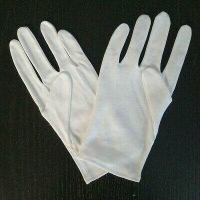 2-12 Pairs White Cotton Gloves For Jewelry Inspection Manicure Work Coins Mint