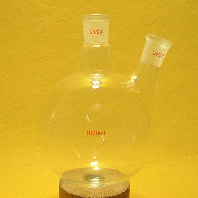 1000ml 2 Neck Round Bottom Flask2429 Jointglass Flasklab Glassware