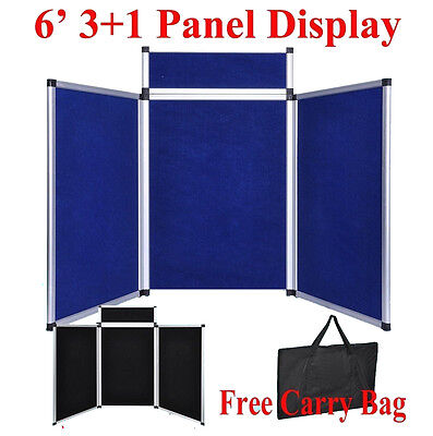 6 31 Bluebk Panel Header Trade Show Display Presentation Tabletop 6ft Board