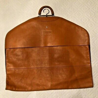 VINTAGE FERRARI CHALLENGE ORIGINAL SCHEDONI LEATHER SUIT (GARMENT) BAG