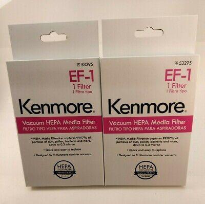 lot of 2 genuine Kenmore EF-1 canister vacuum HEPA filters #20-53295: Ships free 2 Genuine Filters