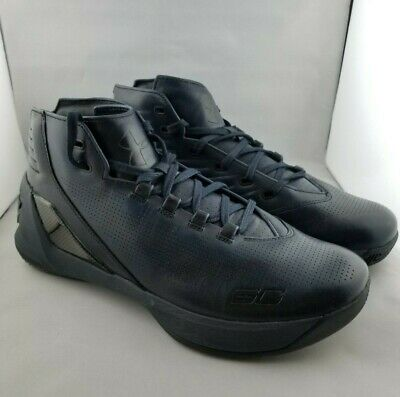 b4e9bf716872 Under Armour Curry 3 Lux Ltd Edition SZ 9 Leather Basketball Shoes 1299661- 997