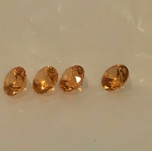 2.72ctw Loose Set of 4 Matched Intense Orange Spessartite Garnet Gemstones