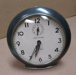 Vtg 1952 Westclox Big Ben Style 6 plain Loud Alarm gun metal /nickel alarm clock