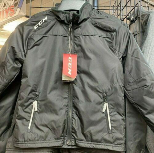 CCM Team Mid-Weight Hockey Jacket - Black *NEW* Multiple Sizes