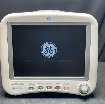 Ge Dash 4000 Patient Monitor - Ohmeda Spo2 Ecg Nibp Printer - Warranty