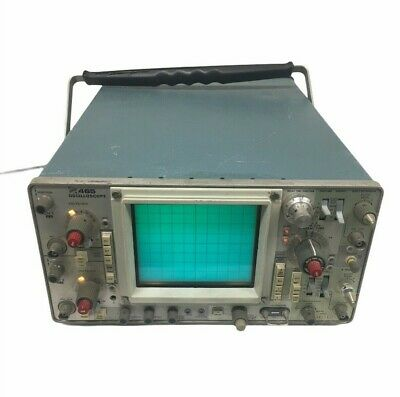Tektronix 465 Oscilloscope Powers On For Parts Sold As Is 9027