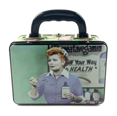 I Love Lucy Metal Lunchbox Mini Collector's Tin Grape Stomping Vitameatavegamin I Love Lucy Mini Tin