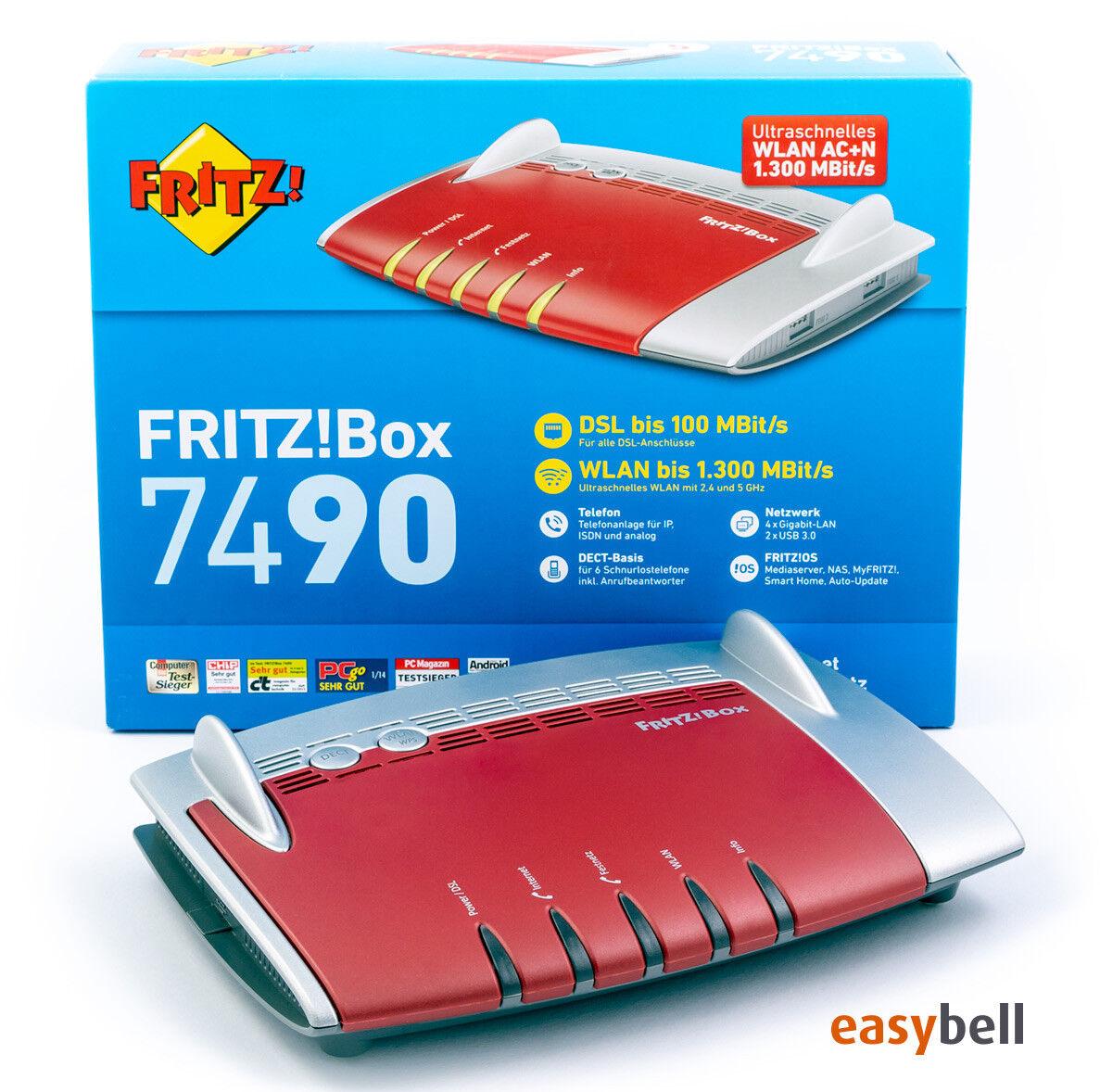 AVM Fritz!Box / fritzbox 7490 WLAN AC Router, VDSL Vectoring Modem, wie neu