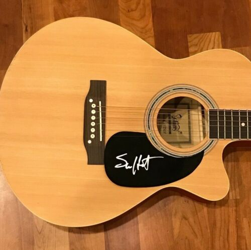 * SAM HUNT * signed autographed acoustic guitar * HOUSE PARTY * PROOF * 1