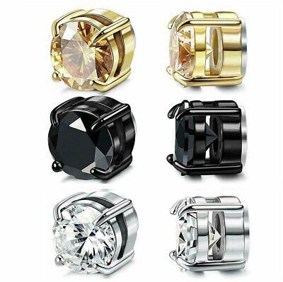 Stainless Steel Magnetic Stud Earrings for Womens Mens  Non-Piercing Clip On Earrings