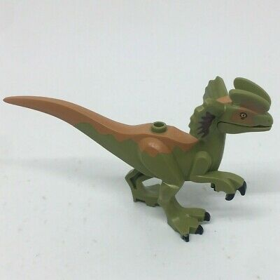 "Lego Jurassic Park / World Dilophosaurus 2"" Tall Dinosaur Mini Figure toy"