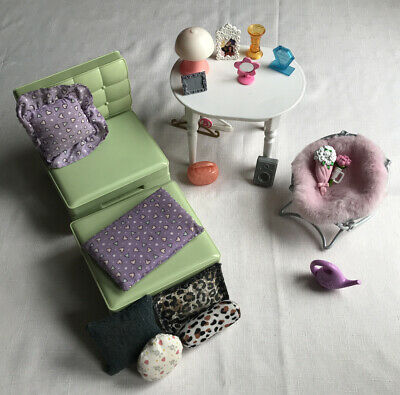Barbie Dream House Furniture And Home Accessories Chairs Table Pillows Flowers