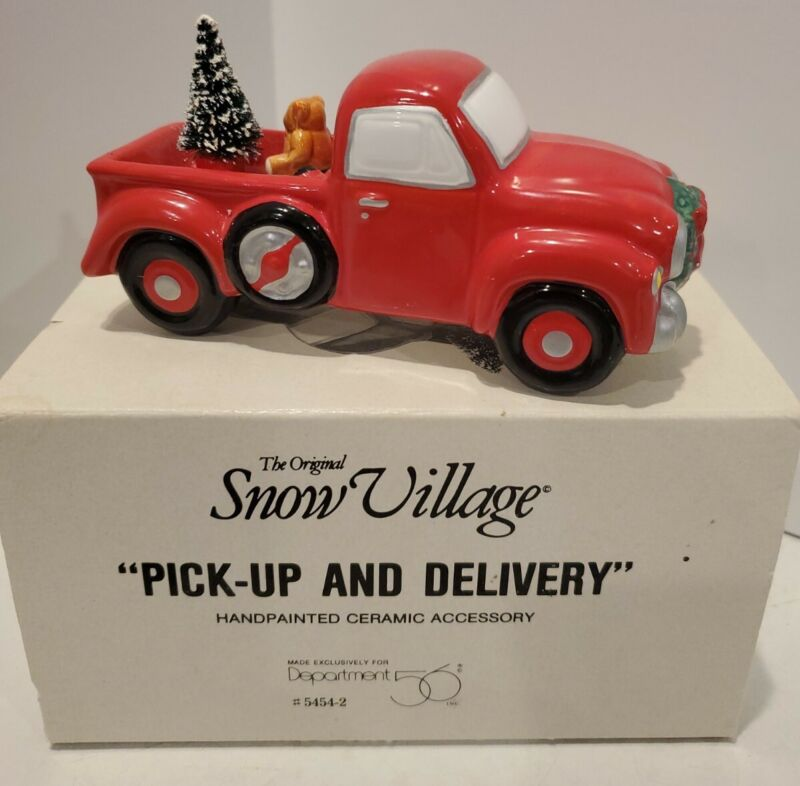 Dept 56 Original Snow Village Pickup And Delivery Red Truck # 5454-2