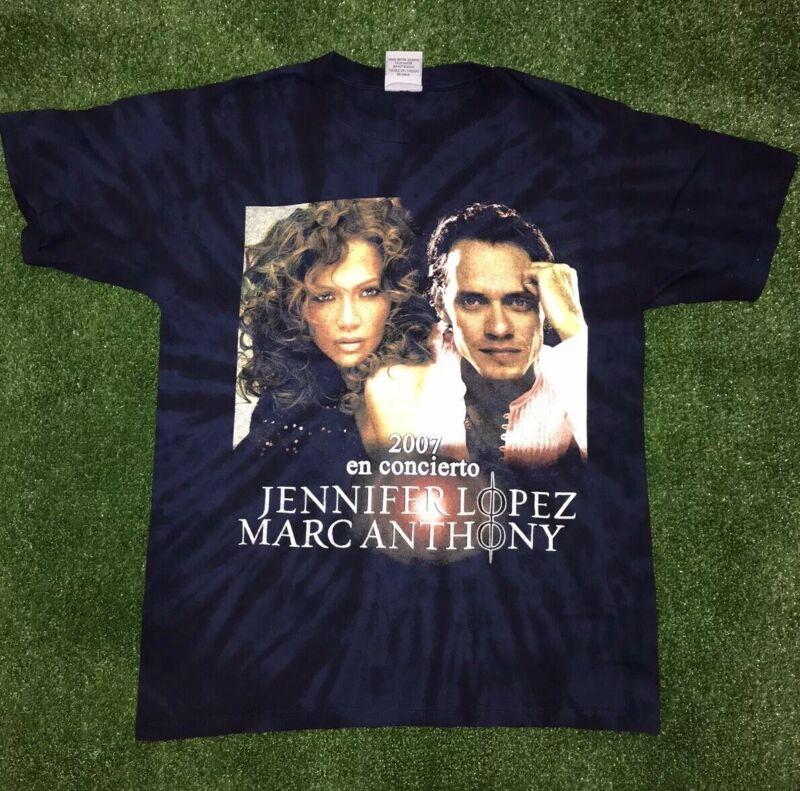 Vintage Jennifer Lopez Marc Anthony 2007 Tour Concert Anvil T Shirt. Spanish.