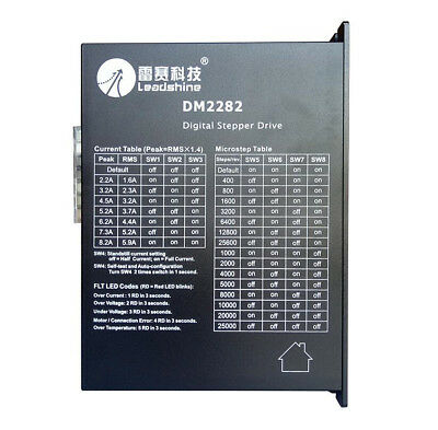 Leadshine Dm2282 2-phase Cnc Digital Stepper Motor Driver90-220vac 0.7-8.2a