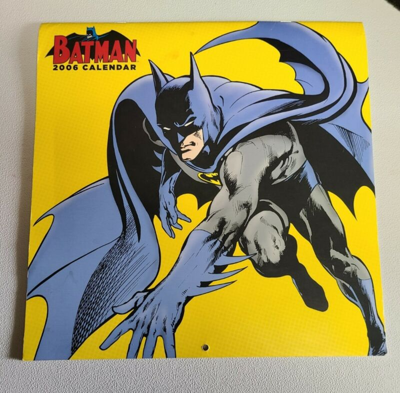 Batman Collector Calendar 2006 Yellow Background - Opened - Not used
