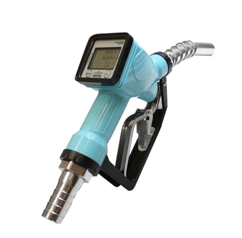 Trubine Mechanical Gas Diesel Digital Fuel Nozzle w/Accuracy LCD Reading Meter
