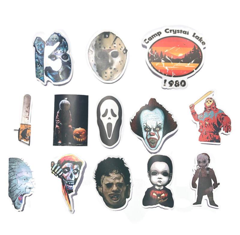 Horror Slasher Movie Jason Voorhees Scream Hell Raiser Halloween Stickers Set 13