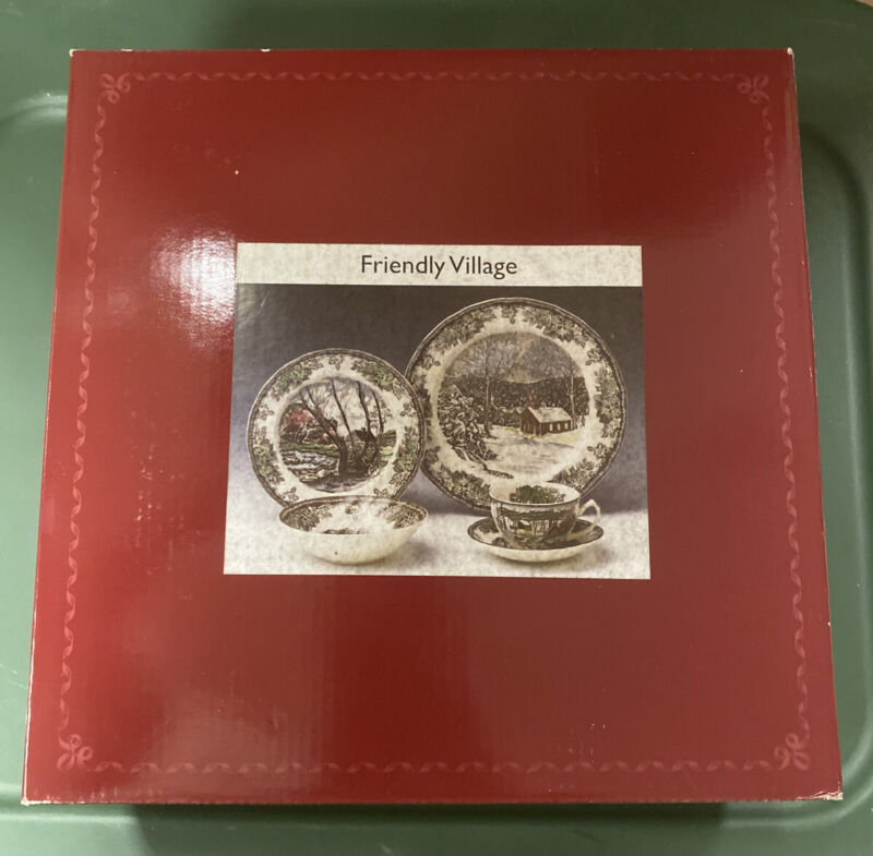 Brand New!!! Johnson Brothers FRIENDLY VILLAGE Place Setting 5 PC PLACE SETTINGS