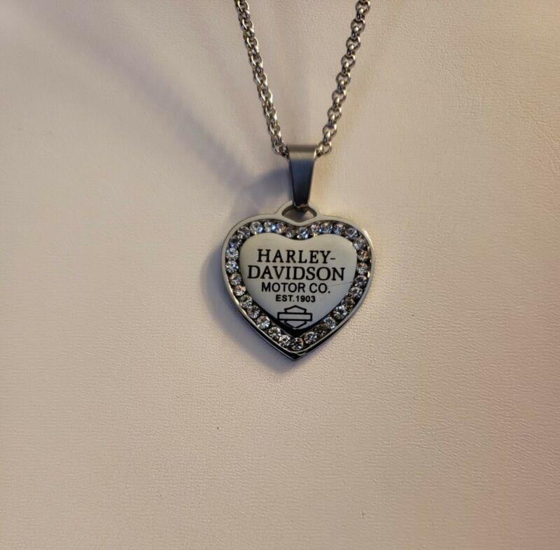 Harley Davidson Heart Necklace
