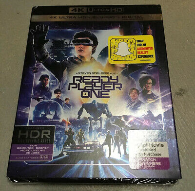 READY PLAYER ONE 4K HDR ULTRA HD/Blu-ray/Digital Copy w/Slipcover New BEST
