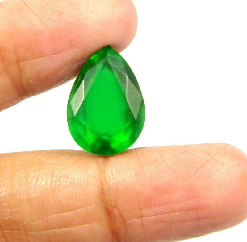 9 Cts. Man-Made Faceted Doublet Emerald Loose Gemstone RM20926