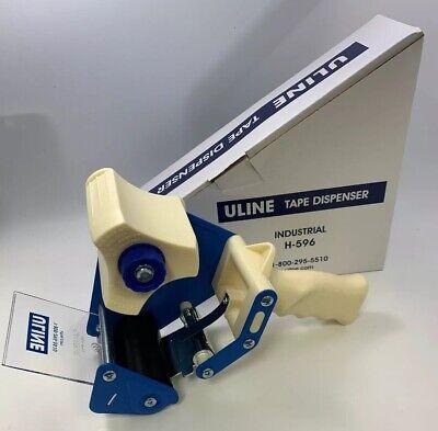 New Uline H-596 Industrial 3 Packing Tape Dispenser Gun 1 Starter Roll Bundle