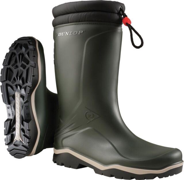 Winterstiefel Dunlop Blizzard grün - schwarz Größe  45 PVC- Stiefel