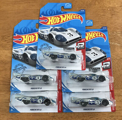 5x Lot NEW 2020 Hot Wheels Zamac 006 Porsche 917 LH *Walmart Exclusive*