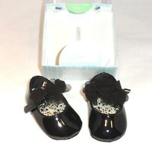 baby deer black patent leather infant dress shoes