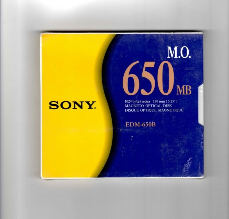 Optical Disks Sony EDM-650B 650 MB (new in cello pkg)